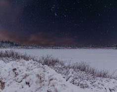 A Winter's Night at the Lake