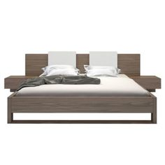 Check out this item at One Kings Lane! Monroe Bed & Nightstands, Walnut