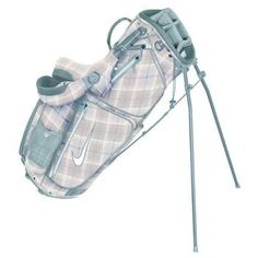 Nike Golf Ladies Xtreme Sport Carry IV Stand Bag - Sail/White/Tartan