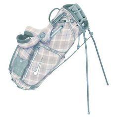 Nike Golf Ladies Xtreme Sport Carry IV Stand Bag - Sail/White/Tartan