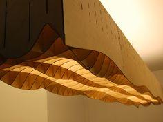 Авторские подвесные потолочные светодиодные светильники из дерева, фанеры, алюминия