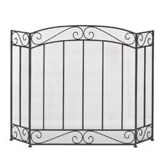 Timeless and elegant, you'll love the way this iron screen adds a touch of stately design to your fireplace. The tri-fold design allows you to fit it perfectly in front of your fireplace, and the metallic finish gives it subtle sheen from the glow of the flames.