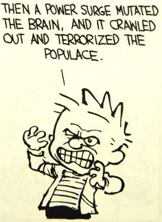 Calvin and Hobbes…ummm, was there a power surge, cuz I see and hear a lot of terror…?