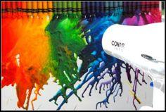 meltedd crayon art