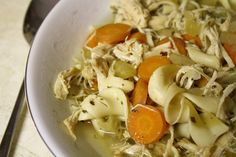 crockpot chicken noodle soup. Needed a little spicing up in the herb/spices department, but good basic.