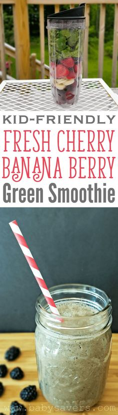 This is it: a green smoothie kids love! It's sweet and loaded with spinach and fruit. Your kids won't know they're having a healthy snack!
