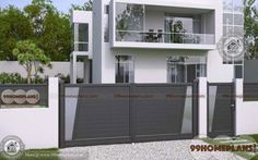 Most Unique Model and First Class Main Gate Design Catalogue Ideas & Create your Dream Home Gates with Latest Best and Eye Catching Gate Collections Iron Main Gate Design, House Main Gates Design, Front Gate Design, Door Gate Design, Main Door Design, House Design Photos, Small House Design, Railing Design, Roof Design