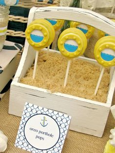 Nautical Baby Shower Table