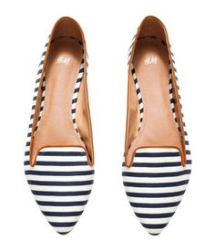 Cute striped flats - $14.95