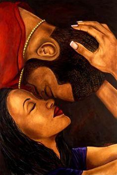 Black Love Art images pictures) ⭐ Pictures for any occasion! Art Black Love, Black Girl Art, Art Girl, Black Couple Art, Art Of Love, Black Couples, Art Amour, Images D'art, Afrique Art
