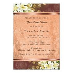 Floral Rose Gold Copper Event Green Burgundy Card - invitations custom unique diy personalize occasions