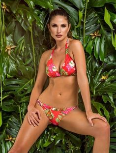 924ffbee878cf Paradizia Floral Tiger Halter Bikini Set