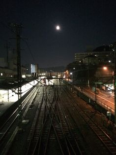 Zushi station with 1day after full moon.