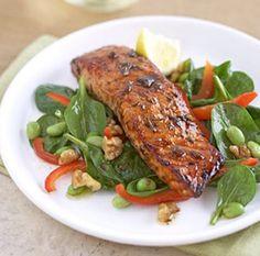 Salmon and endame salad.