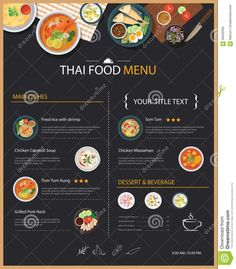 Photo about Vector thai food restaurant menu template flat design. Illustration of food, asia, chicken - 66502396 Thai Food Restaurant, Thai Food Menu, Thai Takeaway, Menue Design, Food Menu Design, Restaurant Menu Template, Restaurant Menu Design, Chicken Coconut Soup, Asian Restaurants