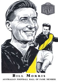 Hall of Fame — Col Bodie Sports Art Richmond Football Club, Australian Football, Sports Pictures, Sports Art, Illustration, Tigers, Flags, National Flag, Illustrations