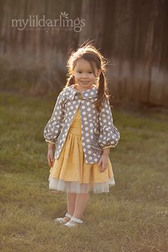 Persnickety Clothing Heirloom Yellow Gray Taylor Jacket [s12-602] - $96.00 : MyLilDarlings Boutique - Oilily, Catimini, Deux Par Deux, Room Seven, Jean Bourget, Misha Lulu, Kenzo Kids, Saurette, Mim-Pi