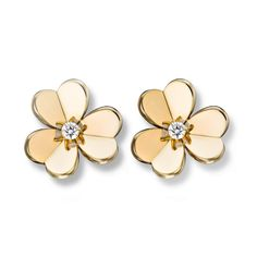 Frivole earrings, small model,Gold - Front View - VCARB65700 - Van Cleef & Arpels
