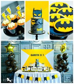 Batboy Batman Themed Birthday Party via Kara's Party Ideas KarasPartyIdeas.com Cake, decor, dessert, favors, supplies, and more! #batmanparty #batmanpartyideas #superheroparty #karaspartyideas (1)