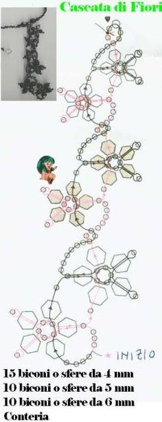 Pulsera de cuentas PATRÓN grano Navidad. Flores rojas, semillas verdes ... o blancas. Ver la imagen de pendientes que coinciden junto a esta