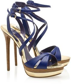 Elie Saab Multi Strap Platform Sandals
