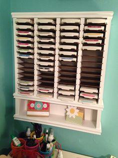 Awesome ink pad shelf my husband made for me..