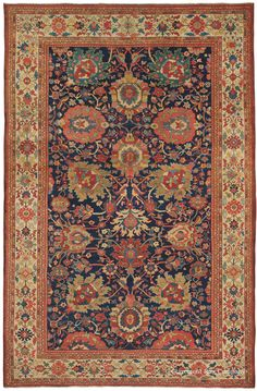 ZIEGLER SULTANABAD, West Central Persian, 7ft 2in x 11ft 0in, Late 19th Century. We were extremely pleased at the numerous outstanding Sultanabad rugs in the Chappaqua Collection's astonishing assemblage of connoisseur-level carpets. This glorious 120-year-old antique Sultanabad rug woven under the auspices of the English Ziegler Co. in Persia captures all the best qualities of this renowned style.