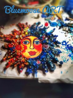 Here is another creation from the bluemoose..  and JSWalsh  The Fantastic Bead Mosaics© SUN series  Titled NEW Day.    A Beautiful and Affordable piece