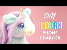 DIY Unicorn Phone Charger | DIY Unicorn Sock Plush | DIY Phone Charger Plush - YouTube