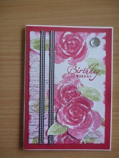 stampin up roses in winter trick   Another Roses in Winter from Stampin' Up!