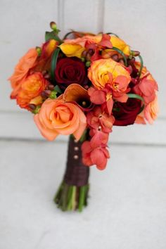 Great colours for Autumn or a Winter wedding!