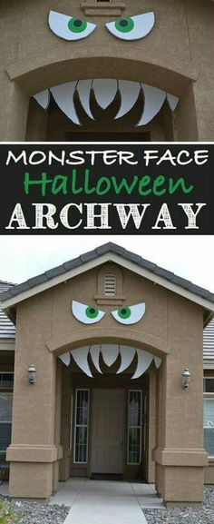 Monster face for an archway