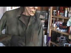 Swaying Ghoul-Zombie Halloween Prop - Video of this cool character prop in action.
