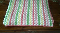 Baby girl bubble blanket