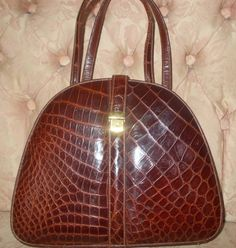 Stunning vintage French 1930's handbag rare shape perfect condition by VintageHandbagDreams on Etsy