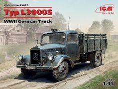 Typ WWII German Truck new molds) - Modelling Mercedes Models, Mercedes Benz Trucks, Plastic Model Kits, Plastic Models, Daimler Benz, Military Diorama, Four Wheel Drive, German Army, Trucks For Sale