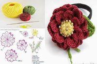 Tina's handicraft : 11 3D flower gadget for hair