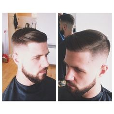 Need to find Jason a good barber. Mens Wedding Hairstyles, Mens Hairstyles With Beard, Hair And Beard Styles, Haircuts For Men, Men's Haircuts, Men's Hairstyles, Hairstyle Ideas, Hard Part Haircut, Side Part Haircut