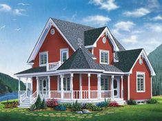 Eplans Victorian House Plan - Victorian Vacation Cottage - 1798 Square Feet and 3 Bedrooms(s) from Eplans - House Plan Code HWEPL13751