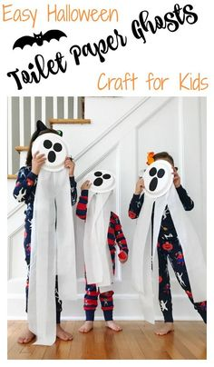 2864993de3 Easy Halloween Craft  Spooky Toilet Paper Ghosts  easyhalloween   halloweenprojectforkids  ghostcraft  toddlerhalloween