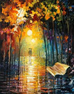 Misty Park - By Leonid Afremov