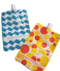 Amazon.com: Nourish Baby Food Pouches (10 Chevron Pouches): Baby Bought em, use em, they're awesome