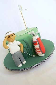 Golf Birthday Gifts – Finding the Right Present For the Golfer Donut Decorations, Dessert Decoration, Mini Cakes, Cupcake Cakes, Dad Birthday Cakes, 70th Birthday, Birthday Ideas, Elephant Cakes, Funny Cake