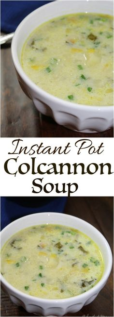 Instant Pot Irish Colcannon Soup - Use coconut milk in place of heavy cream - A traditional belly warming Irish soup of hearty potatoes mixed with chopped kale, cabbage and leeks. Irish Soup, Irish Potato Soup, Potato Leek Soup, Cabbage Potato Soup, Cabbage And Potatoes, Cream Of Cabbage Soup Recipe, Cabbage Diet, Instant Pot, Soup Recipes