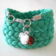 Recycled T-Shirt Bracelet - By MiekK