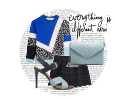"""""""A Mix of Blue"""" by twinklepink ❤ liked on Polyvore featuring Prabal Gurung and Mulberry"""