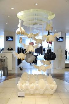 It's nothing if not creative. A bag display at Knightsbridge department store.