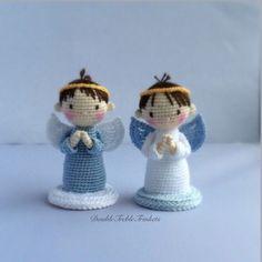#crochet, free pattern, angel, boy, girl, amigurumi, X-mas, Christmas, #haken, gratis patroon (Engels), engel, Kerstmis, haakpatroon