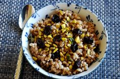 This looks interesting: Breakfast Farro with Pistachios and Dried Cherries