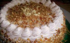 Retete Culinare - Tort cu crema de zahar ars si crantz Romanian Food, Easy Desserts, Vanilla Cake, Mousse, Biscuits, Caramel, Sweet Tooth, Good Food, Ice Cream